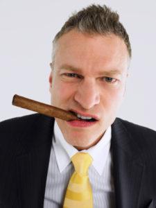 Windows XP Danger - Businessman Smoking Cigar